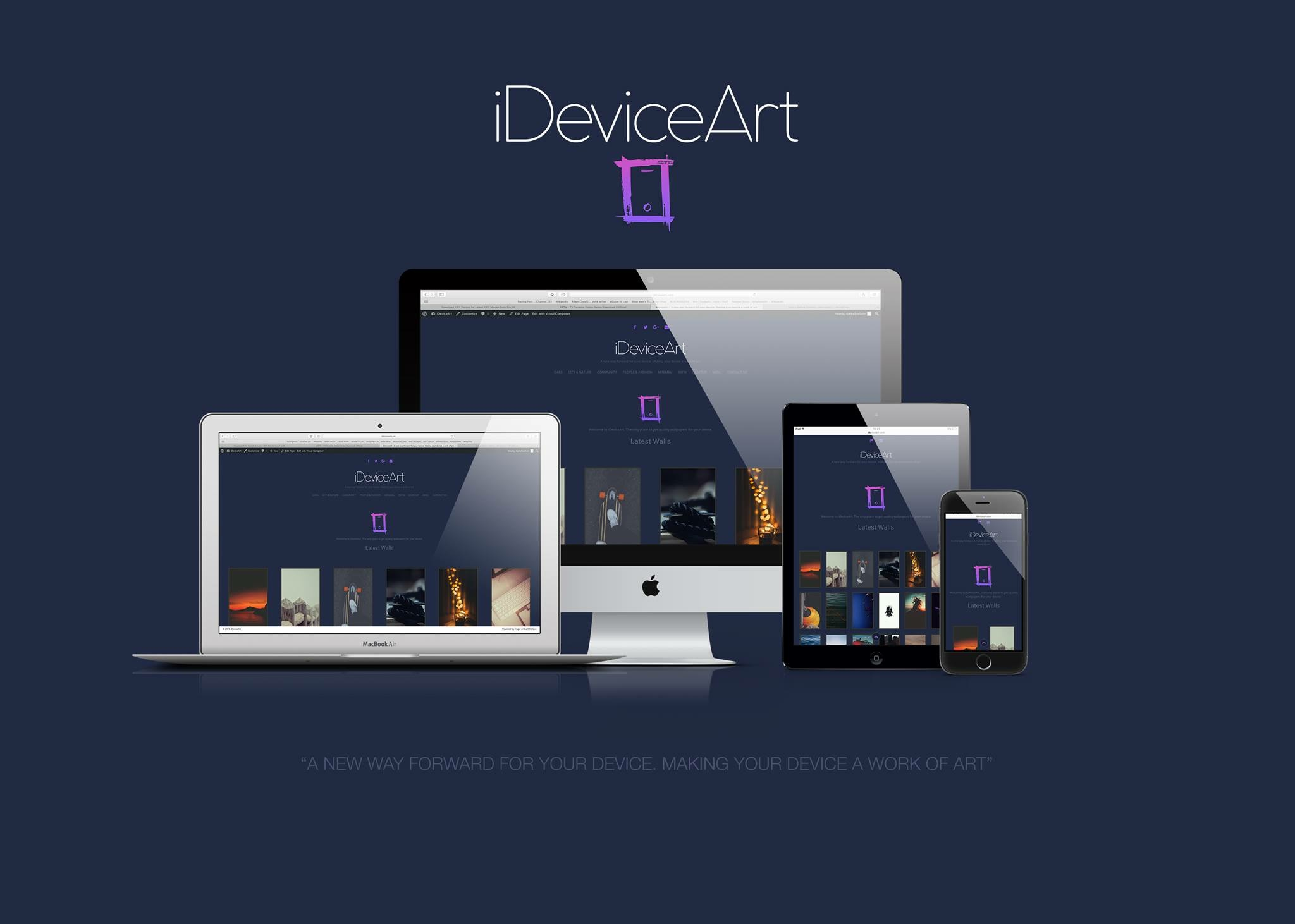 "This is the new iDeviceArt home page that just got up and running. Big thanks to @ThatGuyChris for the work he puts in this for all of us to have that perfect wallpaper for our devices. I'm glad to be able to help and support this site. <a href=""http://ideviceart.com"">iDeviceArt.com</a>"