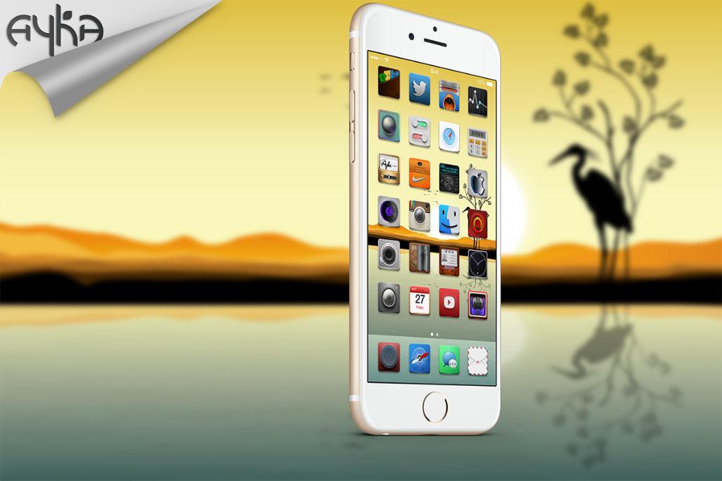 "Ayka theme has been a great success, @S1lex has put alot of hard work and time in Ayka, comes with 200 bundles and more in the future. Every icon is unique and very creative. Go get your iOS 9 copy now! <a href=""http://cydia.saurik.com/package/com.macciti.aykaforios8/"">Ayka Theme</a>"