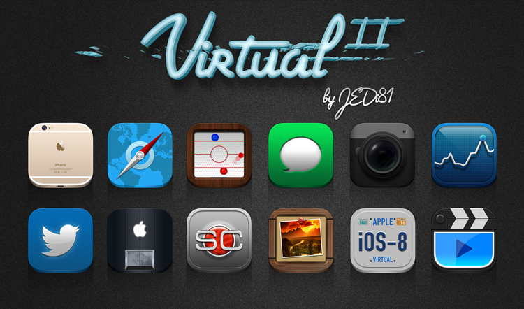 "Virtual 2 has highly realistic, detailed icons with a lot of thought put into each and every one. @Jedi81 has brought this theme to another level. It's free now in the Cydia store, go check it out! <a href=""http://cydia.saurik.com/package/com.macciti.virtual2free/"">Virtual 2</a>"